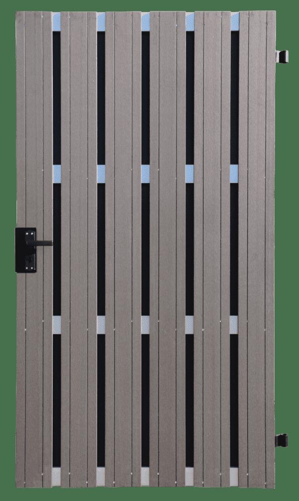 Fertigzauntor GroJa Solid BPC, DIN links, 108 x 180 cm, Anthrazit 1