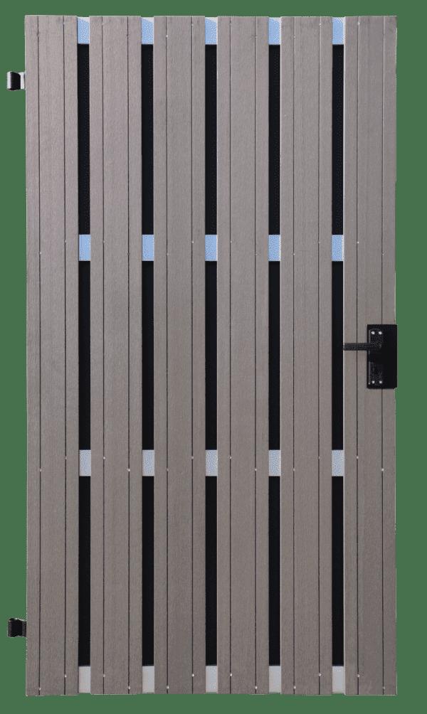 Torelement GroJa Solid BPC DIN rechts, 108 x 180 cm, Anthrazit 1
