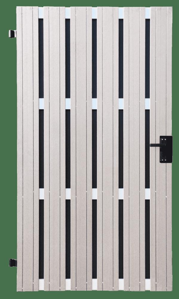Sichtschutz Tor GroJa Solid BPC DIN rechts, 108 x 180 cm, Bi-Color Weiß 1