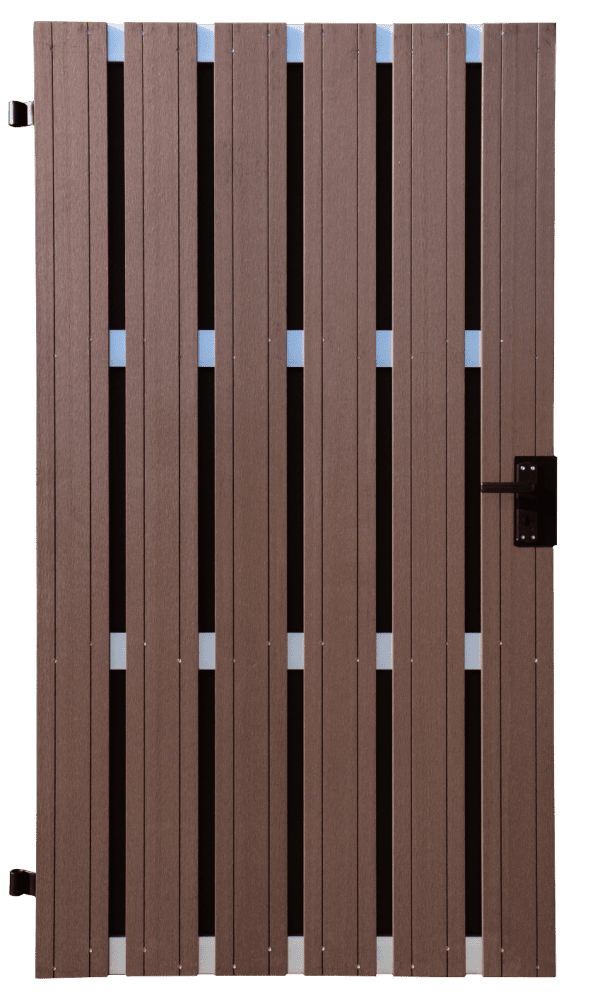 Sichtschutztor GroJa Solid BPC DIN rechts, 100 x 180 cm, Terra 1