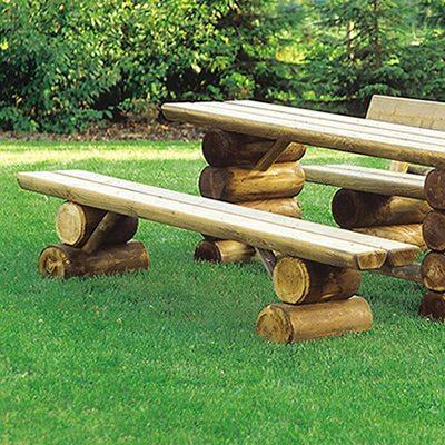 Holzbank Garten ohne Lehne