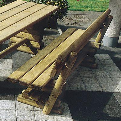 Gartenbank mit Rückenlehne Ruhrtal - Bank 150 cm lang 1