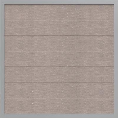 WPC Steckzaun GroJa Viento mit Alurahmen, Quadratisch, Bi-Color Weiß 1
