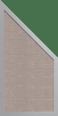WPC Sichtschutz Zaun GroJa Viento mit Alurahmen, Schräg, Bi-Color Weiß 1