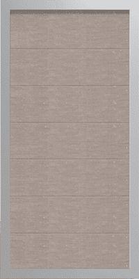 GroJa Viento WPC-Zaunelement mit Alurahmen, Hochkant, Bi-Color Weiß 1