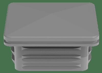 Pfosten Kappe GroJa 6x6 cm für Alupfosten, Silbergrau 1