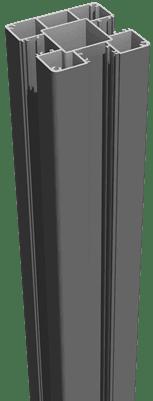 Pfosten Anthrazitgrau GroJa Lumino Alu-Stecksystem zum Einbetonieren 150 1