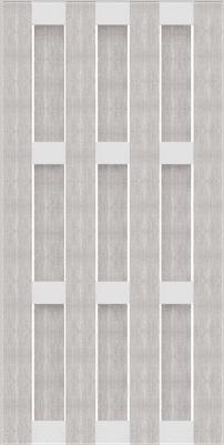 GroJa Solid BPC-Fertigzaun, Hochkant 97x180 cm, Bi-Color Weiß 1