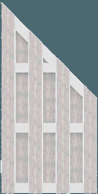 GroJa Solid BPC Fertigzaun, Schräg 97x180/90 cm, Bi-Color Weiß 1