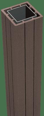 GroJa Solid Fertigzaun Torpfosten 190 cm, zum Aufdübeln, Terra 1