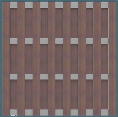 GroJa Solid BPC Fertigzaunelement, Quadratisch 180x180 cm, Terra 1