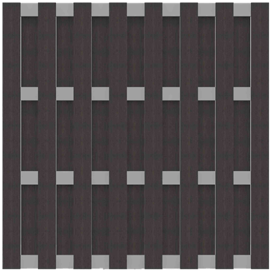 Fertigzaun GroJa Solid BPC, Quadratisch 180x180 cm, Anthrazit 1
