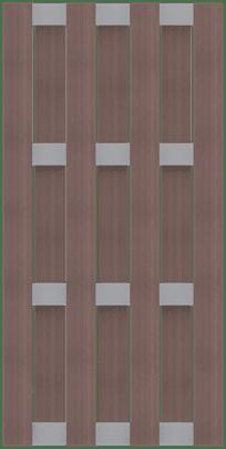 GroJa Solid BPC-Fertigzaun, Hochkant 90x180 cm, Terra 1