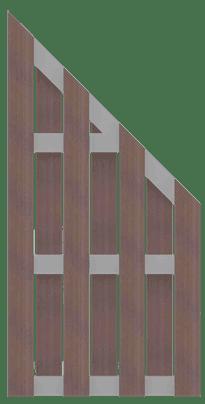 GroJa Solid BPC Fertigzaun, Schräg 90x180/90 cm, Terra 1