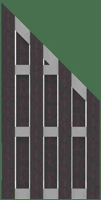 GroJa Solid BPC Fertigzaun, Schräg 97x180/90 cm, Anthrazit 1