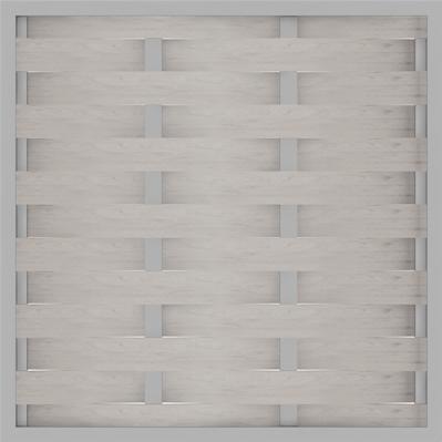 GroJa Solid Flechtzaun Sichtschutz, Alu-Rahmen, 180x180 cm, Bi-Color Weiß, Quadratisch 1