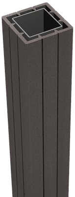Fertigzaun Pfosten GroJa Solid 100 cm, zum Aufdübeln, Anthrazit 1