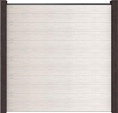 Sichtschutzwand GroJa Solid BPC, Quadratisch 180x180x1,9 cm, Bi-Color Weiß 1