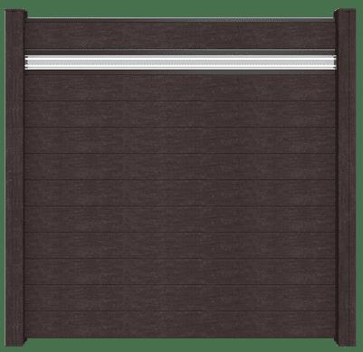 Steckzaunsystem GroJa Solid BPC, 11 Füllungen, 1 Glaseinsatz, 180x180 cm, Anthrazit 1