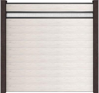 GroJa Solid BPC-Stecksystem, 11 Füllungen, 1 Lochblech-Einsatz, 180x180 cm, Bi-Color Weiß 1