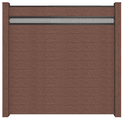 GroJa Solid BPC-Stecksystem, 11 Füllungen, 1 Lochblech, 180x180 cm, Terra 1