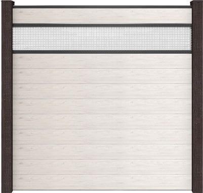 GroJa Solid BPC-Stecksystem, 10 Füllungen, 1 Lochblech-Einsatz, 180x180 cm, Bi-Color Weiß 1