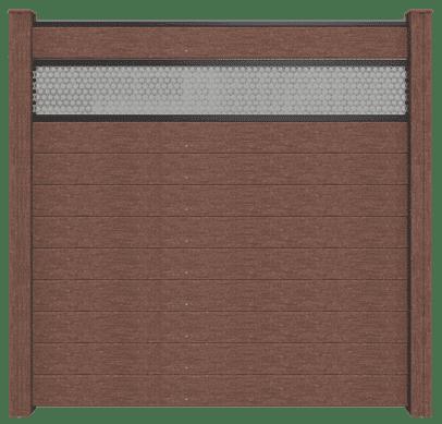 GroJa Solid BPC-Stecksystem, 10 Füllungen, 1 Lochblech-Einsatz, 180x180 cm, Terra 1