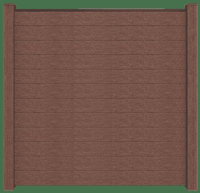 Sichtschutzfeld GroJa Solid BPC, Quadratisch 180x180x1,9 cm, Terra 1