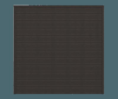 GroJa Sombra WPC Sichtschutz Zäune 180x180, Graphite Black 1