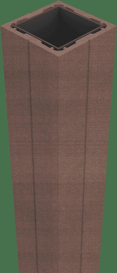 GroJa Sombra Pfosten zum Aufdübeln 190, stahlverstärkt, Tropical Brown 1