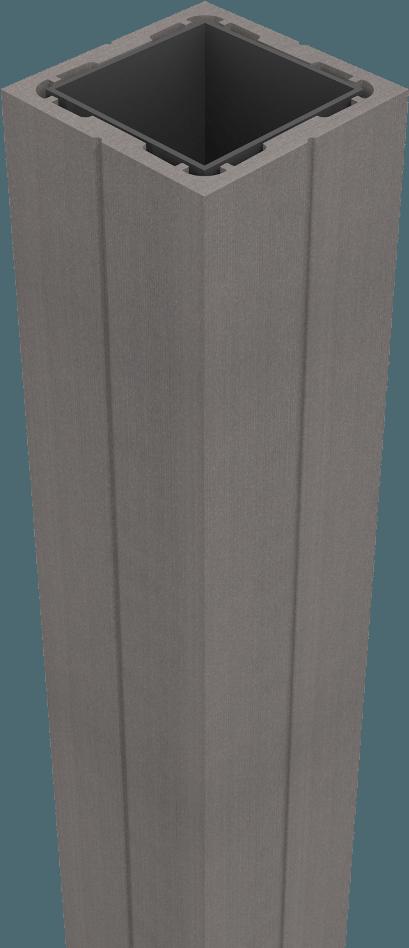 GroJa Sombra WPC Pfosten grau zum Aufdübeln 190, stahlverstärkt, Stone Grey 1