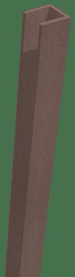 GroJa Sombra WPC-Stecksystem Rahmen, Standard, Tropical Brown 1