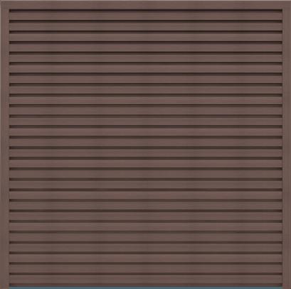 GroJa Sombra WPC Sichtschutz schallhemmend 180x180, Tropical Brown 1