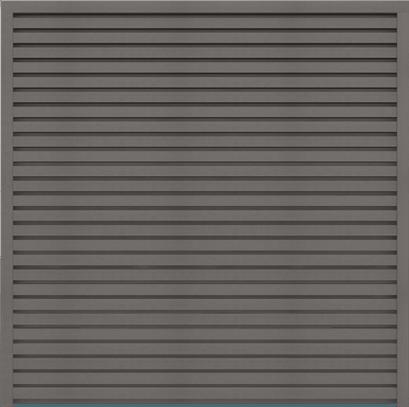 Zaunfeld GroJa Sombra WPC-Stecksystem Schallhemmend 180x180, Stone Grey 1