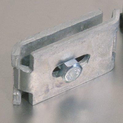 Gittermattenverbinder: Verbinder Paar, flach 1